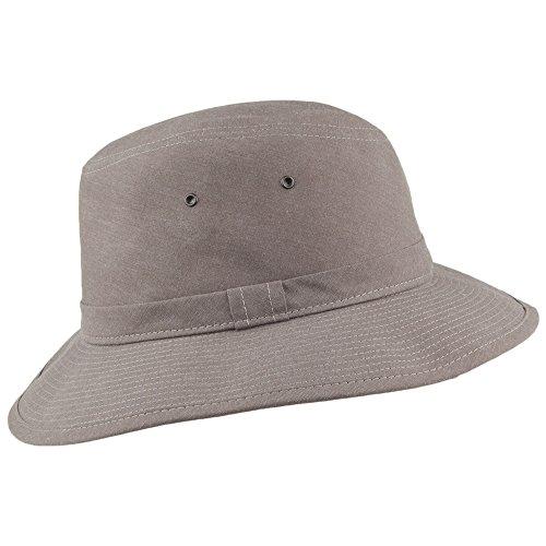 Crambes Fedora Sombrero Safari De Gris Algodón nxIwa8qAa1
