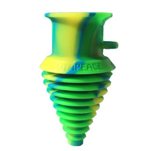 (THE MOUTHPEACE ORIGINAL WITH LANDYARD 100% PLATINUM CURED SILICONE (GREEN/BLUE/YELLOW))