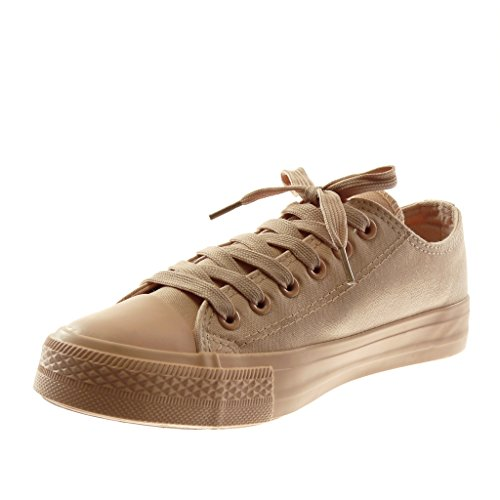 Mode Chaussure Angkorly Cm Baskets Plat Femme Talon Tennis 1 5 Pastel Nude C5dWa7dqw