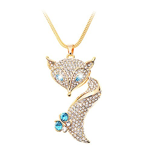 KINGSEVEN Exquiste Chain Swarovski Crystal Solid Bottle Pendant Necklace for Women (Little Angel1)