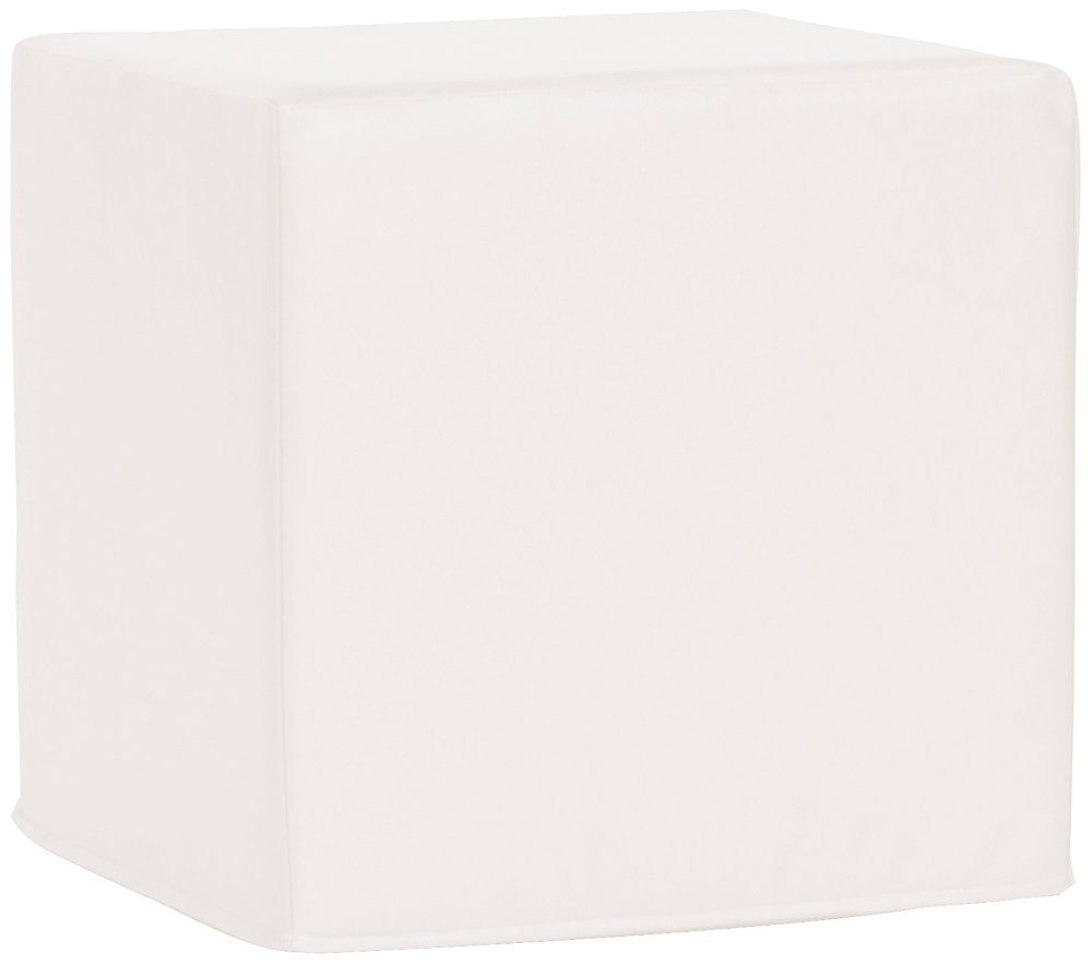 Howard Elliott Q850-944 No Tip Block Patio Ottoman, Atlantis White
