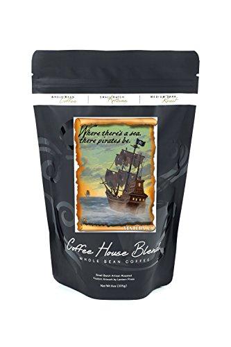 Ventura  California   Pirate Ship  8Oz Whole Bean Small Batch Artisan Coffee   Bold   Strong Medium Dark Roast W  Artwork