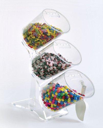 Upright Bulk Food Bins - Food Tubes by Choice Acrylic Displays