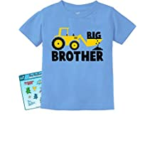 Big Brother Tractor Lovers Boys Toddler/Infant Kids T-Shirt Free Gift Stickers