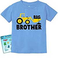 Big Brother Tractor Lovers Boys Toddler/Infant Kids T-Shirt Stickers