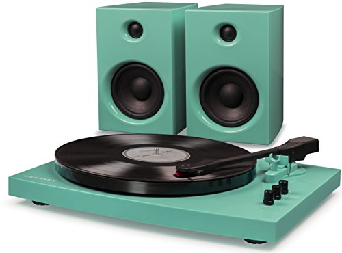 Crosley T100A-TU 2-Speed Bluetooth Turntable System with Stereo Speakers - Turquoise