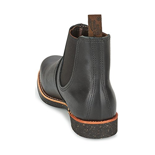 Red Wing Mens Rancher Chelsea 8200 Leather Boots Black Bajo El Envío Barato BhKCEI