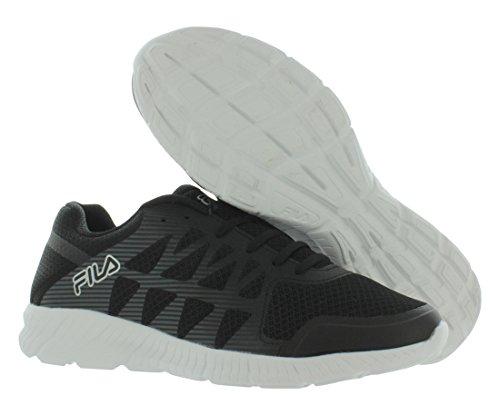Fila Men's Memory Finity Running Shoe Black, Black, Metallic Silver