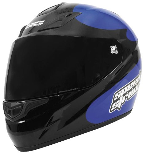 Speed & Strength SS1000 Moment of Truth Helmet , Size: XS, Primary Color: Blue, Distinct Name: Blue/Black Moment of Truth, Helmet Type: Full-face Helmets, Helmet Category: Street, Gender: Mens/Unisex 87-4031