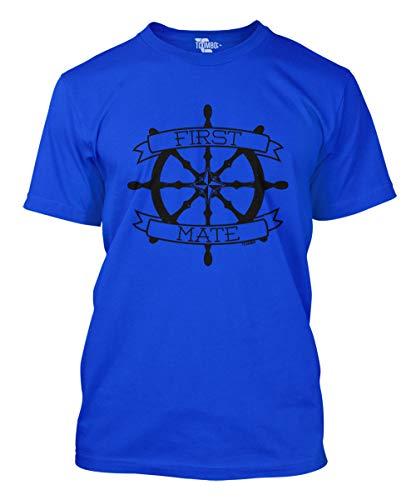 First Mate Men's T-Shirt (Royal, Large) -