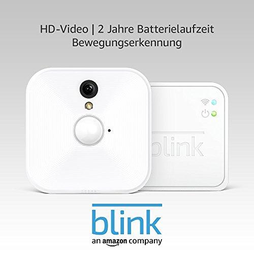 Blink System für Videoüberwachung, für den Innenbereich, mit Bewegungserkennung, HD-Video, 2 Jahre Batterielaufzeit, inkl. Cloud-Speicherdienst, Ein-Kamera-System