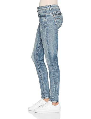 Destroy Femme Light G WMN Bleu Mid Jean Aged STAR Midge Zip Skinny Vintage RAW OwFqCg