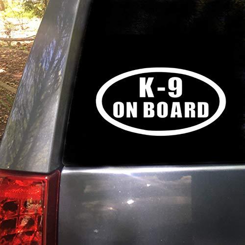 (K-9 On Board Car Truck Decal Sticker 7x4.2)