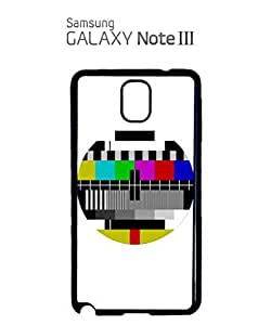 Test Pattern Vintage Retro TV Mobile Cell Phone Case Samsung Note 3 White