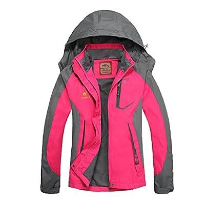 Women's Hooded Waterproof Jacket-Diamond Candy lightweight Softshell Casual Sportswear
