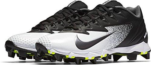 Nike Mens Vapore Ultrafly Keystone Bitta Da Baseball Misura 6.5 Nero / Argento Metallizzato / Bianco