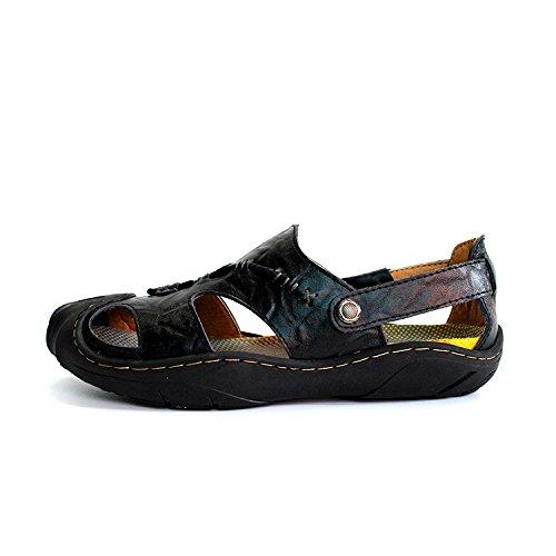 Xing Lin Sommer Sandalen Strand Schuhe Herren_Sommer Sandalen Männer Baotou Männer Schuhe Casual Loch black