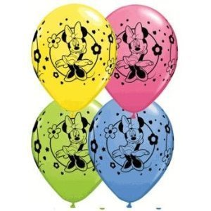 Pioneer Party Group Officially Licensed Disney 12-Inch Latex Balloons, Minnie Mouse Assorted Colors, 6-Count]()