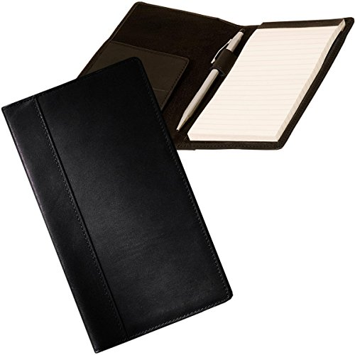 Refillable Leather Breast Pocket Composition Notebook Journal Checkbook - Lined Checkbook Leather Cover