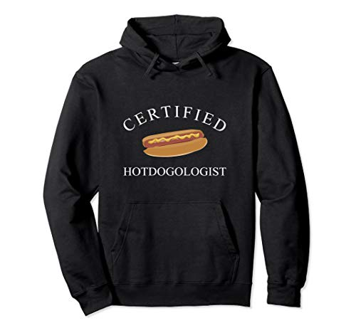 Certified Hotdogologist Hot Dog Pullover Hoodie (Hot Dog Sweatshirt)