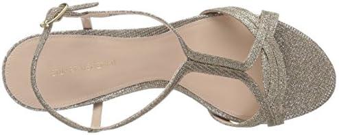 Stuart Weitzman Women's Sunny Heeled Sandal, Platinum Noir, 8.5 Medium US