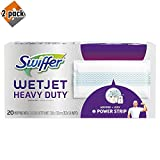 Swiffer Wetjet Heavy Duty Mop Pad Refills for Floor Mopping and Cleaning, All Purpose Multi Surface Floor Cleaning Product, 20 Count (Packaging May Vary) - 2 Pack