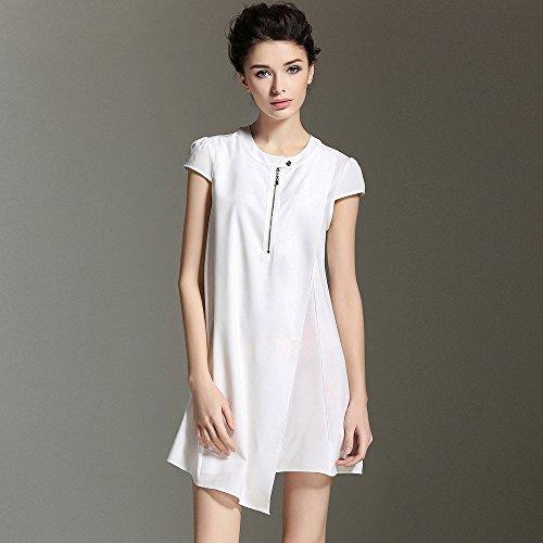 Gran white La ZHUDJ Verano T Vestido Mujer El Y Shirt Primavera Vestido Swing Suelto zORdqO
