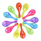 Fansport 12PCS Shaker Toy Musical Toy Party Maraca Portable Cheering Light up LED Rattle Toy (Random Color)