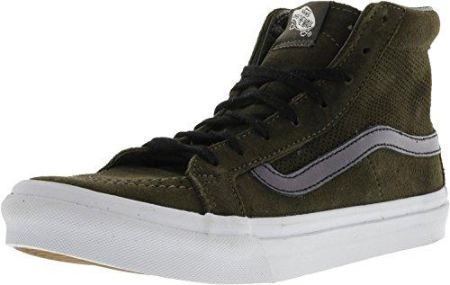 Vans Unisex Sk-8Hi Slim-Ausschnitt (Mesh) Skate-Schuh Asphalt / True White