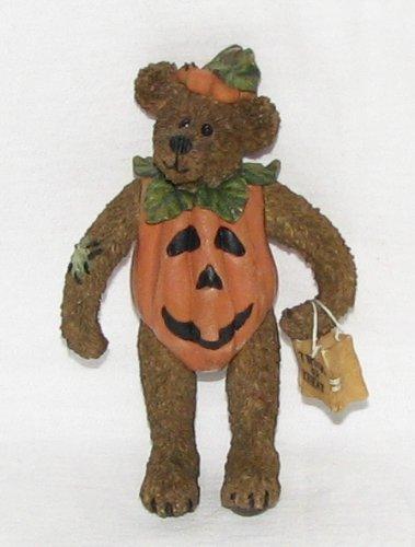 Bradley Boo Bear... Countin' the Treats, Boyds Shoebox Bear, (Spinster Costume)