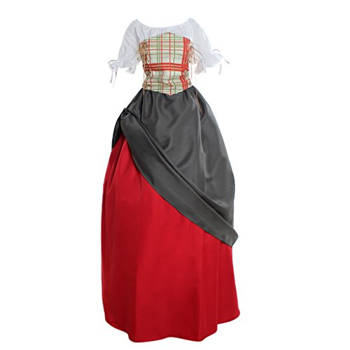 CosplayDiy Women's Pirate Wench Medieval Dress Costume (Wench Costume Ideas)