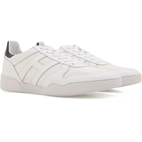 Hogan Sneakers H357 Uomo Mod. HXM3570AC40I9J1353 Bianco in Pelle e Tessuto 9