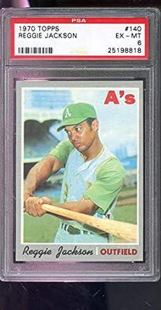 Amazoncom Reggie Jackson Psa Graded 6 Baseball Card 1970