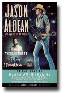 Price comparison product image Jason Aldean Poster - 11 x 17 Concert Promo on the We Were Here Tour -- SLC