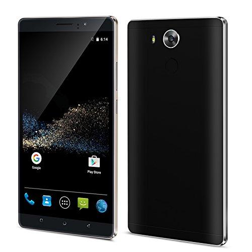 Padcod Unlocked 3G Smartphone,6 inch IPS Screen Android 5.1 Cellphone,MTK6580 4 Core 1.3GHz, 8GB ROM,Dual Sim,Dual Camera,WIFI GPS G-Sensor SIM-Free 2G/3G 4800mAh Battery (BK) by Padcod
