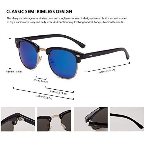 Amazon.com: Gafas de sol polarizadas semi sin bordes, para ...