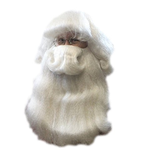 Santa Claus Wig & Beard Deluxe Costume Set Mr. Claus Costume Accessory St. Nick (Child Santa Wig And Beard)