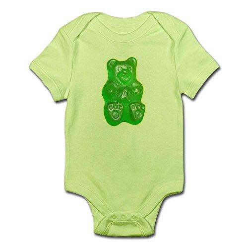 CafePress Green Gummi Gummy Bear Infant Bodysuit - Cute Infant Bodysuit Baby (Gummy Bear Suit)