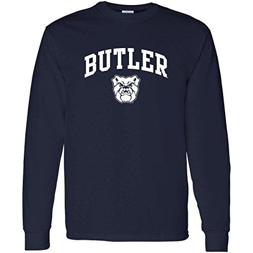 UGP Campus Apparel Butler Bulldogs Arch Logo Long Sleeve - Large - Navy