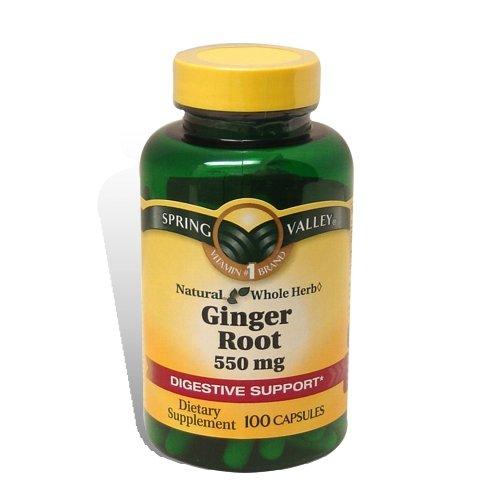 Spring Valley - Корень имбиря 550 мг, 100 капсул