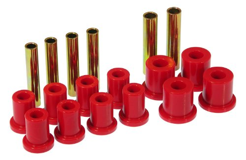 (Prothane 7-1007 Red Front Spring Eye and Shackle Bushing Kit )