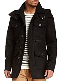 Men's Coat, Seduka Wool Blend Military Jacket with Toggle Buttons