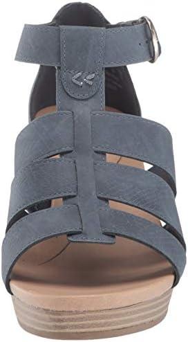 Dr. Scholl's Women's Esque Sandal, Oxide Snake Print, 6 M US