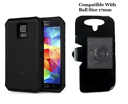 SlipGrip 17MM Holder For For Samsung Galaxy S5 i9600 & SM-G900v Using ZeroLemon 8500mah Extended Battery Case