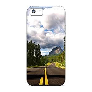 Iphone 5c Case Cover - Slim Fit Tpu Protector Shock Absorbent Case (route)
