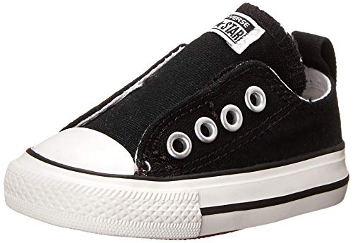 Converse Boys Infants' Chuck Taylor All Star Low Top Slip On Sneaker, Black, 8 M US Big Kid (All Star Converse For Baby Boy)