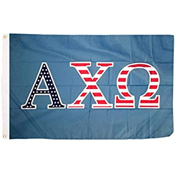 Amazon.com: Alpha Chi Omega 80s Letra Sorority Bandera ...