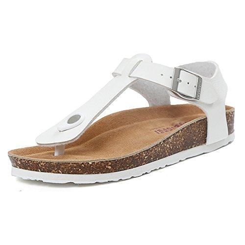 Guida pino Bianco in elegante Bianca Colore donna CN38 moda Pantofole fresche Sandali di legno DUO Nero Nero EU38 Infradito 5 piano dimensioni Pantofole estiva UK5 Ww6aSOzx