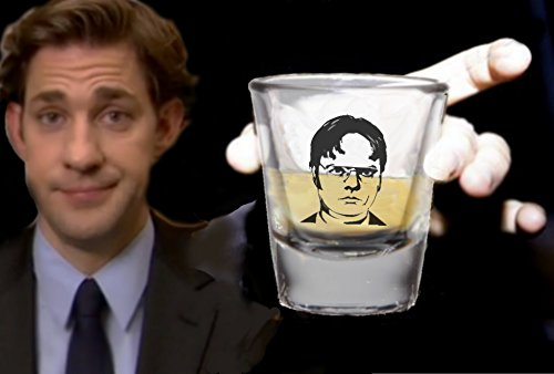 The Office TV Show Dwight Schrute Promo Shot Glass LIMITED EDITION Show Shot Glass