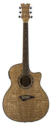Acoustic Electric Guitar Natural Satin - Dean Exotica Acoustic-Electric Guitar, Quilted Ash Satin Natural
